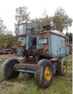 A 1960s NEALS NS45 Yardcrane Diesel awaiting restoration