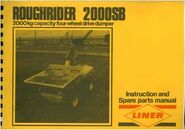 A 1980s Liner Roughrider 2000B Modelmanual
