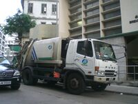 HK Sheung Wan Bridges Street Waste Market n Collection truck FUSO 2