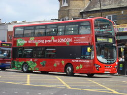 London Bus route 328 hybrid bus A