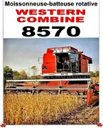 MF 8570 combine (Western Combine)