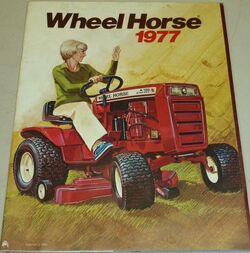 Wheel Horse A-100 brochure - 1977