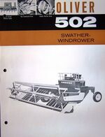Oliver 502 swather b&w brochure - 1963