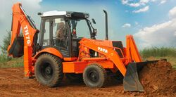 TATA TH76 backhoe - 2015