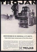 Trojan snow thrower ad - 1966