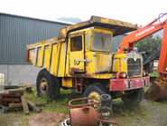 A 1970s Aveling Barford RD017 Dumptruck awaiting restoration