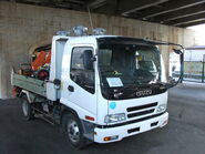 ISUZU FORWARD, Dump Truck, white-color