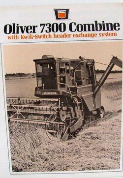 Oliver 7300 combine b&w brochure
