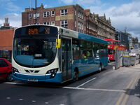 Arriva bus 1413 VDL Bus SB200 Wrightbus Pulsar II NK09 BRX in Newcastle upon Tyne 9 May 2009