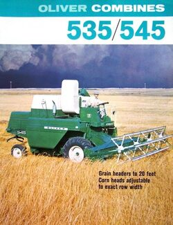 Oliver 545 combine brochure - 1968