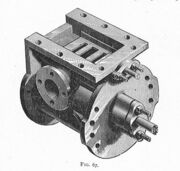 Slide-valve cylinder, three-quarter view (Heat Engines, 1913)