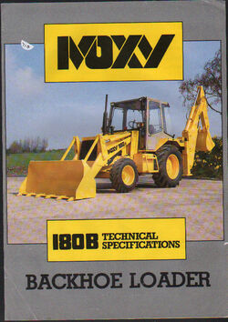 Moxy 180B backhoe brochure