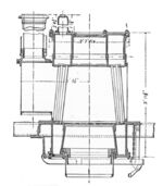 Thornycroft vertical water-tube boiler, section (Rankin Kennedy, Modern Engines, Vol III)