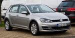 VW Golf 1.6 TDI BlueMotion Technology Comfortline (VII) – Frontansicht, 31. Dezember 2012, Düsseldorf