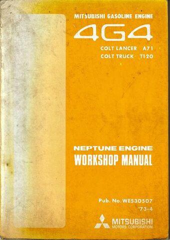 File:15- Mitsubishi T120 COLT - 1973- 74 Engine Workshop Manual - 4G4 Neptune Motor.jpg