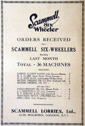 A 1920s Scammell Road Models Original Catalogue