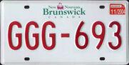 New Brunswick License Plate 2004