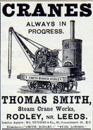 A 1880s Smith Of Rodley Steam Yardcrane