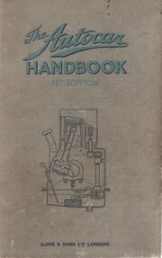 Cover (Autocar Handbook, 13th ed, 1935)