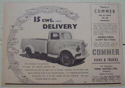 Commer pickup - 1949
