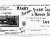 Mann's Patent Steam Cart and Wagon Co.