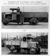 A 1920s Thornycroft Three Ton Suction Gas Lorry