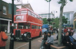 RT bus outside Uxbridge station