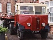 A 1950s Thornycroft Nippy wityh trailer