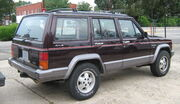 Jeep Cherokee XJ 4D Laredo burgundy SOP rr