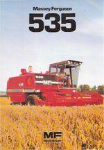 MF 535 combine - 1980