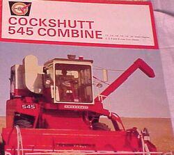 Cockshutt 545 combine brochure