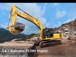 L&T Komatsu PC300 Mighty excavator