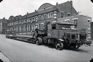 A 1940s Scammell 100 Ton Outfit Plant Transporter