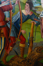 Altarpiece of St Sebastian (detail)