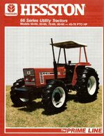 Hesston 80-66 DT MFWD brochure - 1988