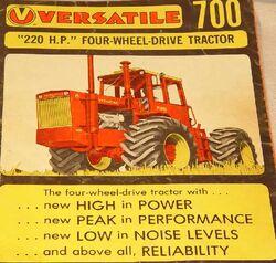 Versatile 700 brochure