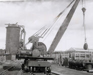 A 1930s Whitaker Brothers Railway Service Steamcrane working in the 1950s