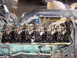 Diesel engine valve train