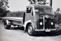 A 1950s GUY Otter Platform Cargolorry