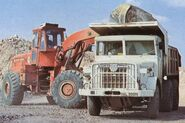 A 1970s Aveling Barford TS350 4WD Loader with a AB Dumptruck