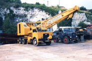 A 1970s Smith Of Rodley Cranetruck on Foden carrier