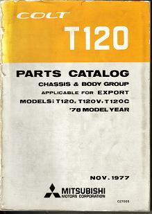 13- Mitsubishi COLT 1978 T120 - C27005 PARTS