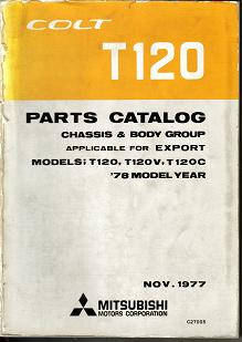 File:13- Mitsubishi COLT 1978 T120 - C27005 PARTS.JPG