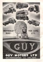A 1940s GUY MOTORS Original Model Range Catalogue