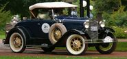 Ford A de Luxe Roadster blue vrd