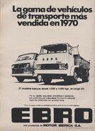 1970s EBRO Diesel Model Range Brochure