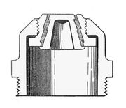 'National' fusible plug, section (Army Service Corps Training, Mechanical Transport, 1911)