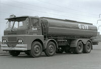 A 1970s GUY Invincible 8X4 Tankerlorry