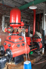 Mather and Platt fire sprinkler pump at Ellenroad Steam Museum - IMG 8541
