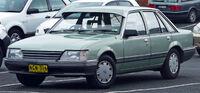 Green sedan automobile